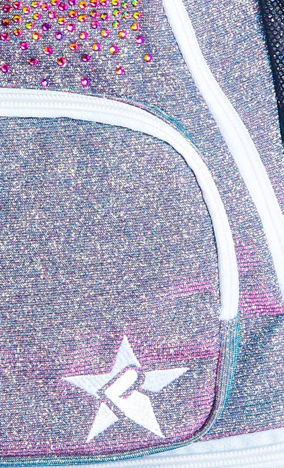 light purple baby backpack main features fabric details