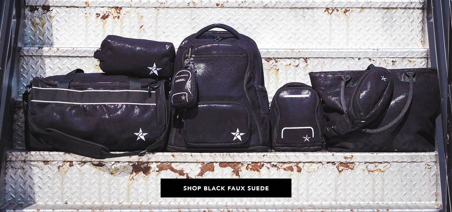 black faux suede