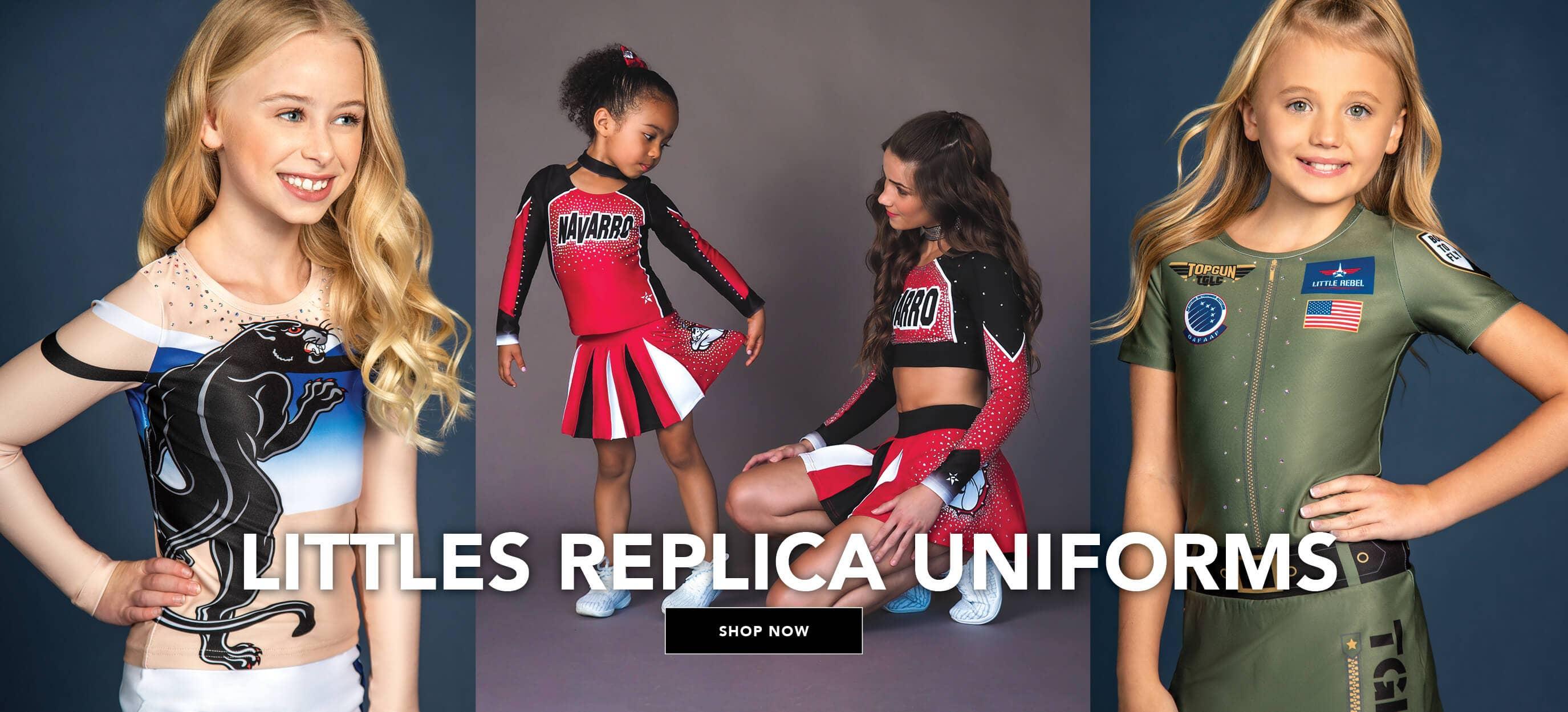 cheer athletics littles replica uniforms